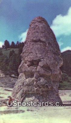 Liberty Cap - Yellowstone National Park, Wyoming WY Postcard