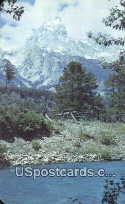 Grand Teton - Jackson Hole, Wyoming WY Postcard