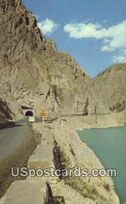 Shoshone Canyon Tunnel - Cody, Wyoming WY Postcard