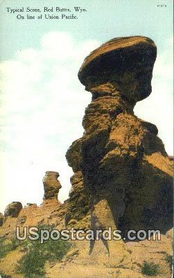 Red Buttes, Wyoming Postcard      ;      Red Buttes, WY