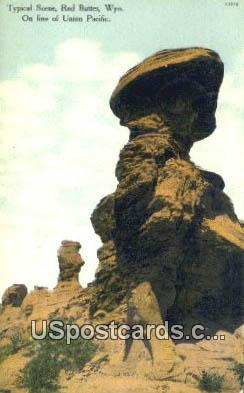 Red Buttes, WY Postcard       ;      Red Buttes, Wyoming