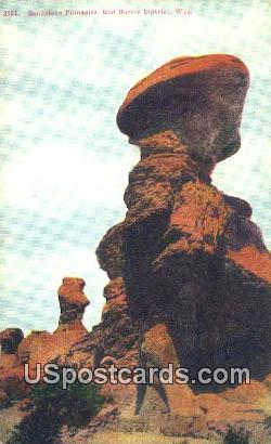 Sandstone Pinnacles - Red Buttes District, Wyoming WY Postcard