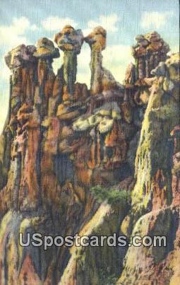 Idols - Hells Half Acre, Wyoming WY Postcard