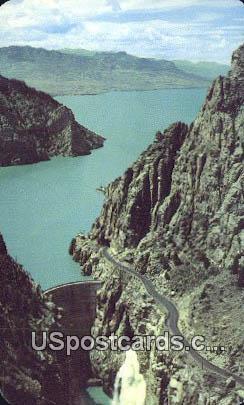 Buffalo Bill Dam - Cody, Wyoming WY Postcard