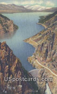 Shoshone Dam - Yellowstone National Park, Wyoming WY Postcard