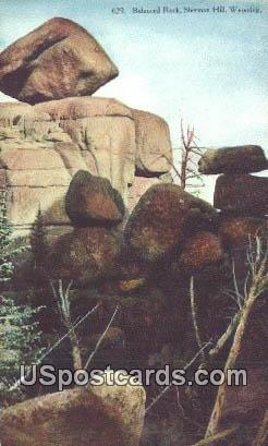 Balanced Rock - Sherman, Wyoming WY Postcard