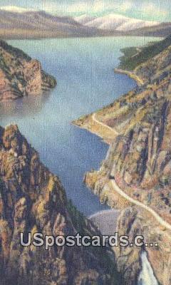 Shoshone Dam & Lake - Yellowstone National Park, Wyoming WY Postcard