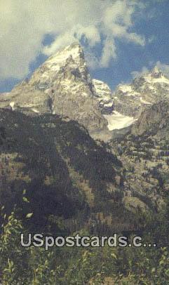 Grand Teton Peaks - Grand Teton National Park, Wyoming WY Postcard