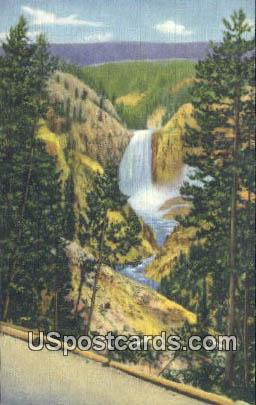 Lower Falls - Grand Canon of the Yellowstone, Wyoming WY Postcard