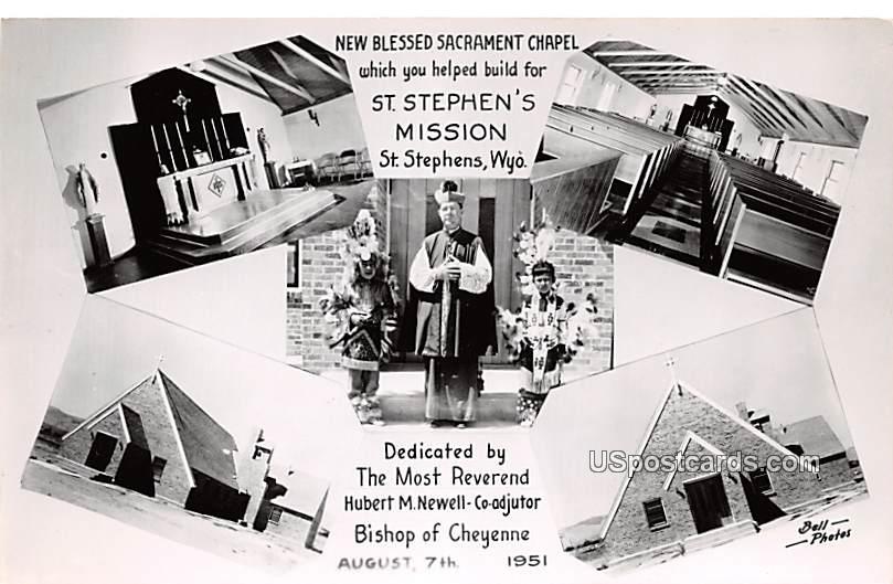 New Bless Sacrament Chapel - Saint Stephens, Wyoming WY Postcard
