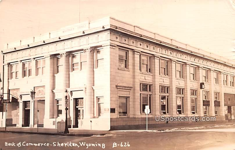 Bank of Commerce - Sheridan, Wyoming WY Postcard