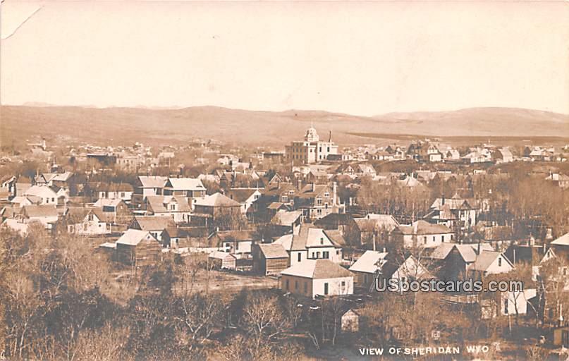 Birds Eye View - Sheridan, Wyoming WY Postcard