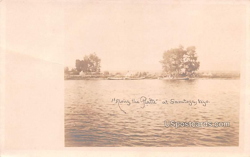 Along the Platte - Saratoga, Wyoming WY Postcard