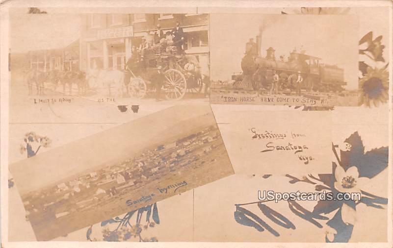 Iron Horse - Saratoga, Wyoming WY Postcard