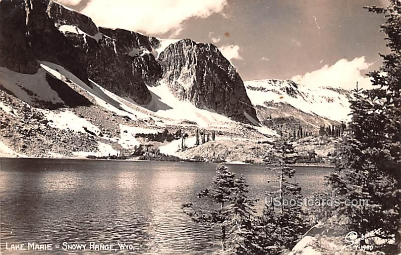 Lake Marie - Snowy Range, Wyoming WY Postcard