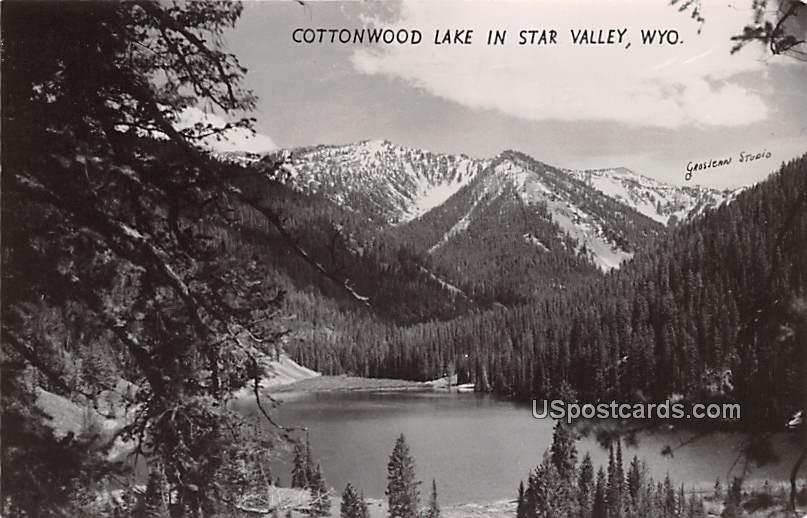 Cottonwood Lake - Star Valley, Wyoming WY Postcard