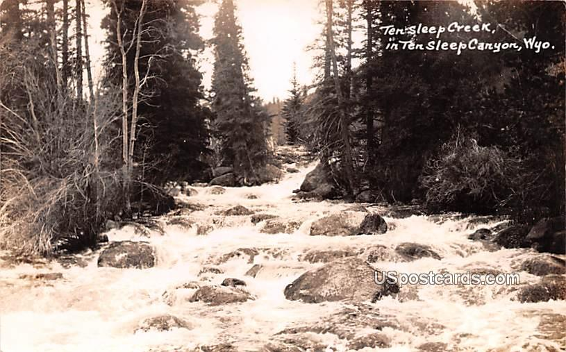 Ten Sleep Creek - Ten Sleep Canyon, Wyoming WY Postcard