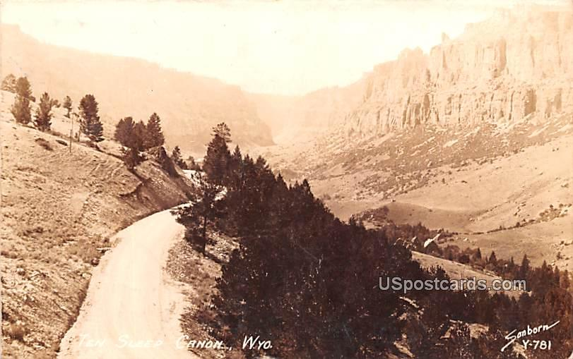 Dirt Road - Ten Sleep Canyon, Wyoming WY Postcard