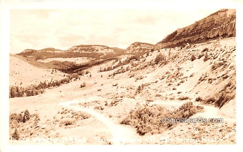 Upper Switch Back - Tensleep Canyon, Wyoming WY Postcard
