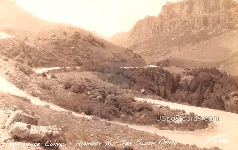 Horseshoe Curves - Ten Sleep Canyon, Wyoming WY Postcard