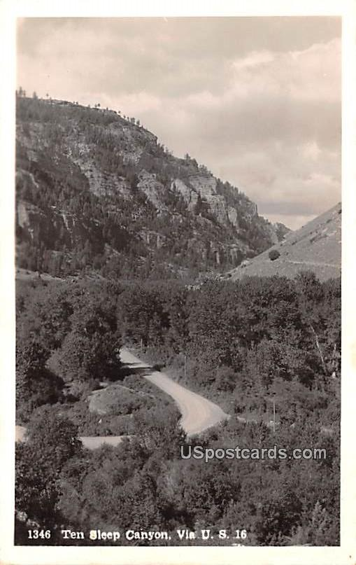Ten Sleep Canyon - Wyoming WY Postcard