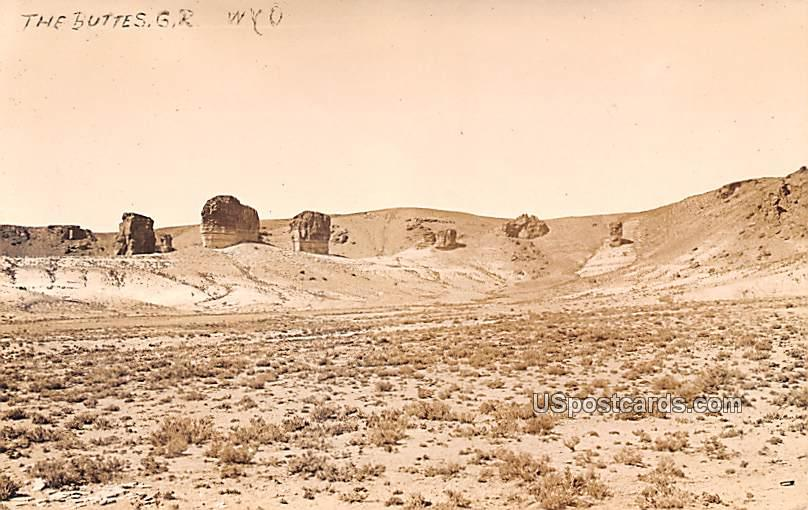 The Buttes - Wyoming WY Postcard