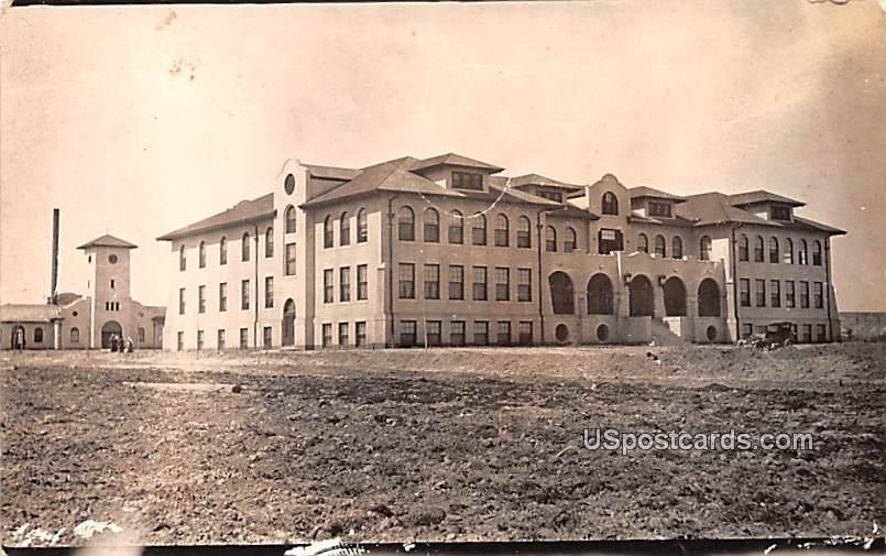 Industrial School - Worland, Wyoming WY Postcard