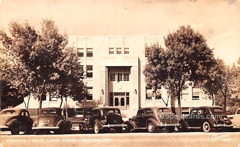 Washakie County Court House - Worland, Wyoming WY Postcard