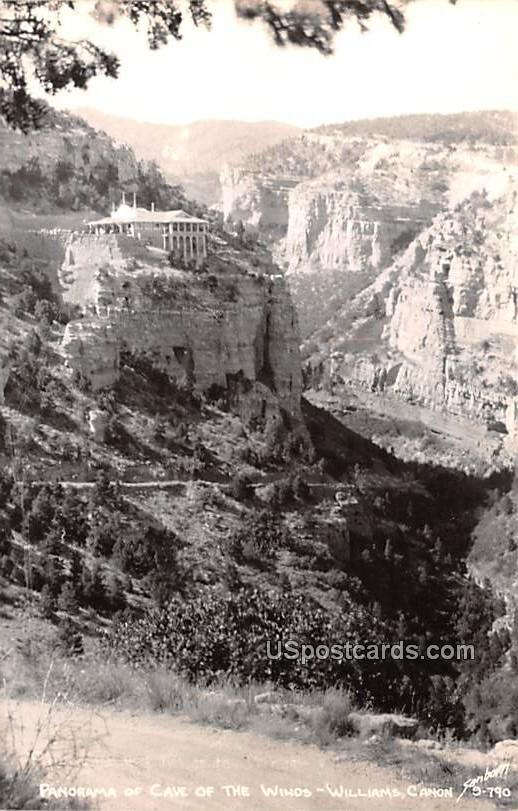 Panorama of Cave of the Winds - Williams Canyon, Wyoming WY Postcard
