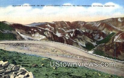 Glacier Lake - Yellowstone National Park, Wyoming WY Postcard