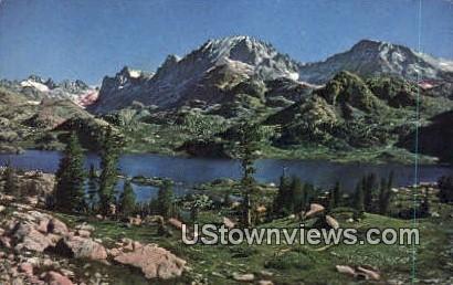 Fremont Peak, Island Lake - Yellowstone National Park, Wyoming WY Postcard