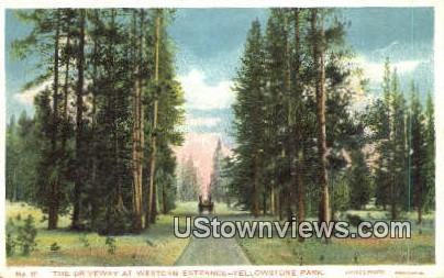 Western Entrance - Yellowstone National Park, Wyoming WY Postcard