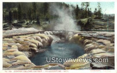 Crater Oblong Geyser - Yellowstone National Park, Wyoming WY Postcard