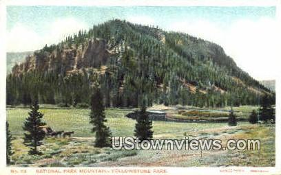 National Park Mountain - Yellowstone National Park, Wyoming WY Postcard