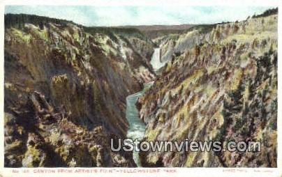 Canyon, Artist's Point - Yellowstone National Park, Wyoming WY Postcard