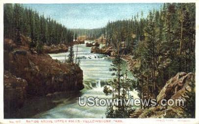 Rapids, Upper Falls - Yellowstone National Park, Wyoming WY Postcard