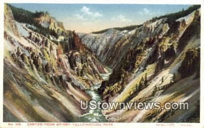 Canyon, Brink - Yellowstone National Park, Wyoming WY Postcard