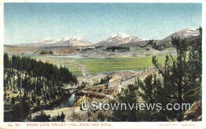 Swan Lake Valley - Yellowstone National Park, Wyoming WY Postcard