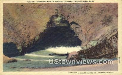Dragons Mouth Spring - Yellowstone National Park, Wyoming WY Postcard