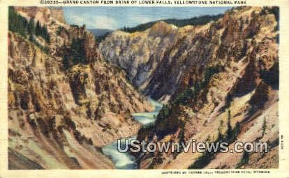 Grand Canyon - Yellowstone National Park, Wyoming WY Postcard