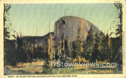 Mt. Haynes - Yellowstone National Park, Wyoming WY Postcard