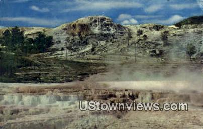 Opal Terraces - Yellowstone National Park, Wyoming WY Postcard