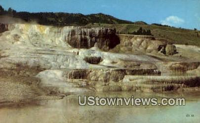 Minerva Terrace, Mammoth - Yellowstone National Park, Wyoming WY Postcard