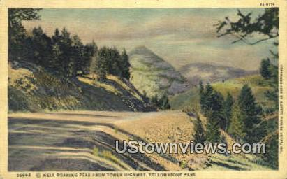 Hell Roaring Peak - Yellowstone National Park, Wyoming WY Postcard