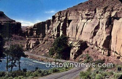 Red Grade & Wind River - Yellowstone National Park, Wyoming WY Postcard
