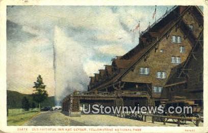 Old Faithful Inn - Yellowstone National Park, Wyoming WY Postcard