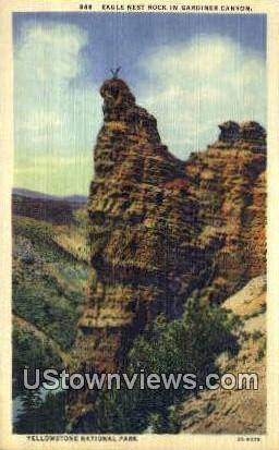 Eagle Nest Rock - Yellowstone National Park, Wyoming WY Postcard