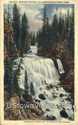 Kepler Cascade - Yellowstone National Park, Wyoming WY Postcard