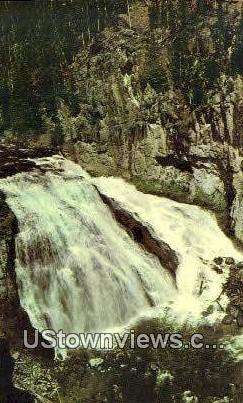 Gibbon Falls - Yellowstone National Park, Wyoming WY Postcard