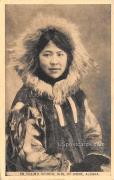 Eskimo School Girl - Nome, Alaska AK Postcard